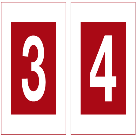 R1.3/R1.4 Road Sign